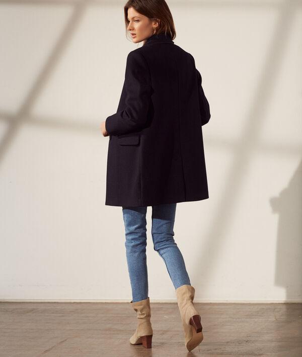 Straight-cut coat