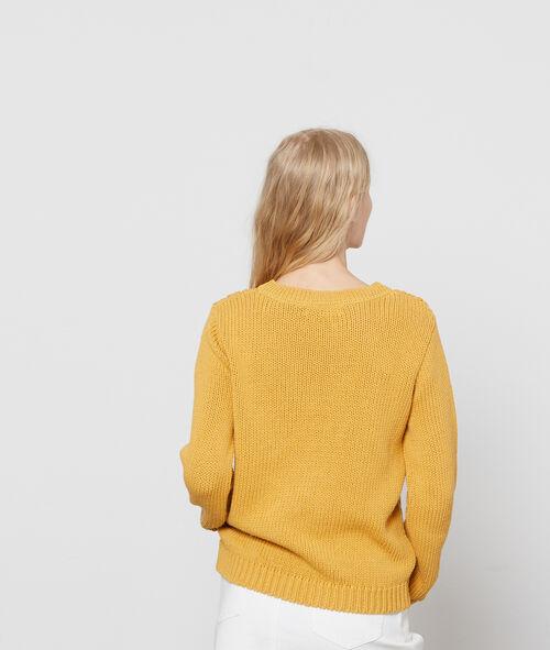 100% cotton cable knit jumper