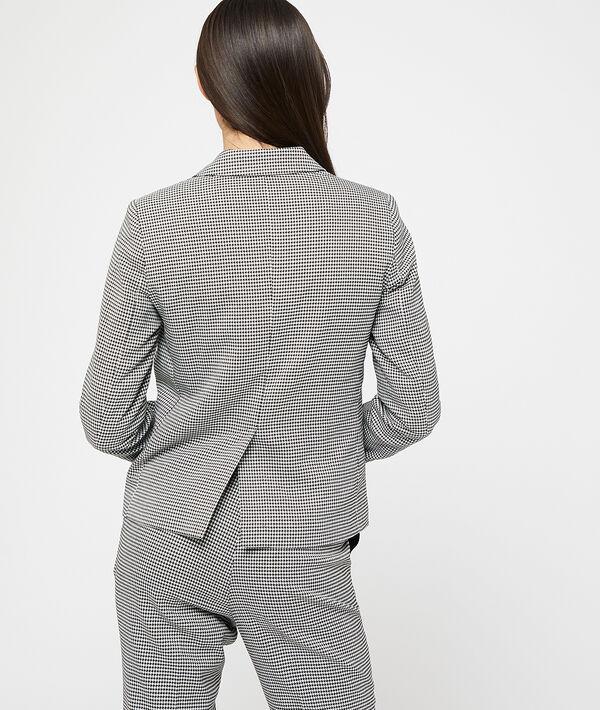 Veste de tailleur motifs pied de poule