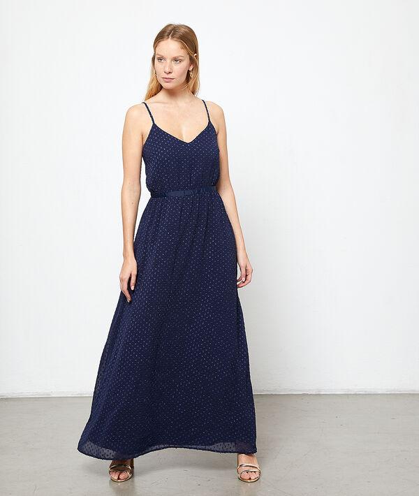 Maxi dress in dobby mesh