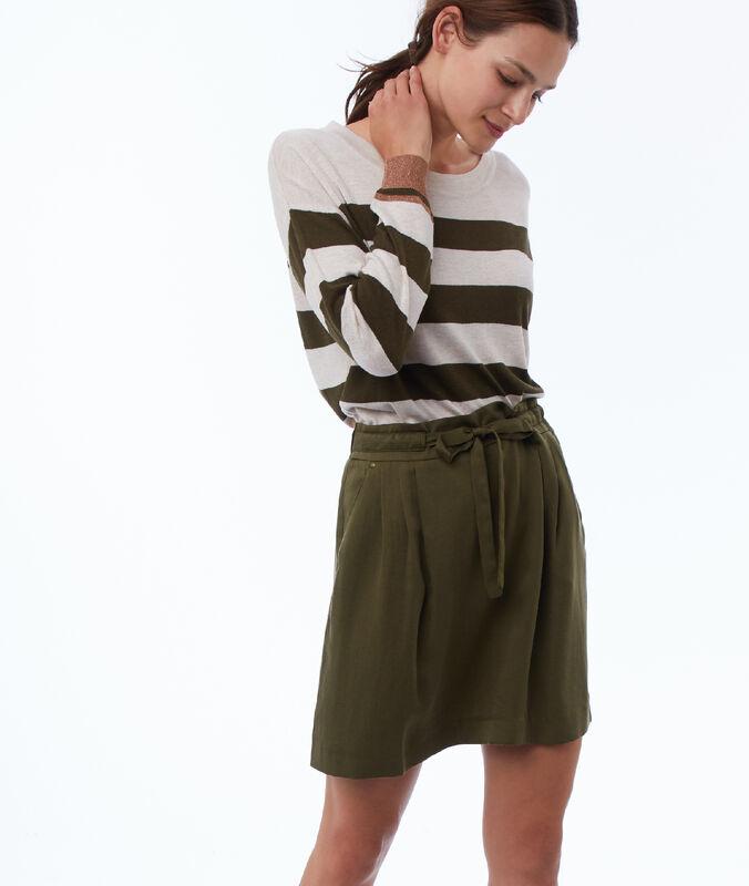 Tencel® skater skirt khaki.