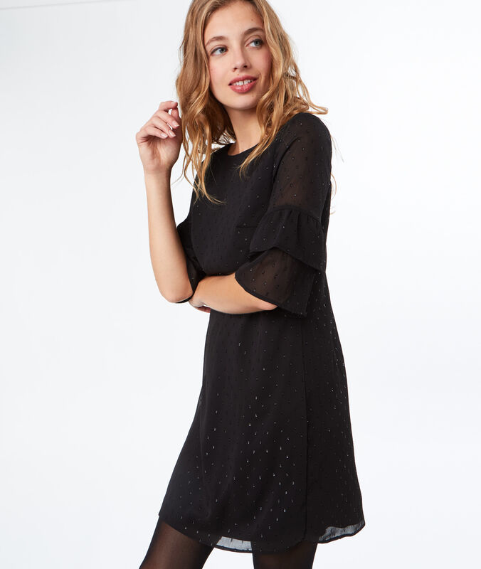 Plumetis dress black.