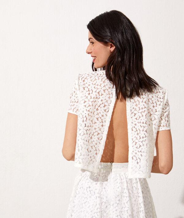 Open back lace crop top