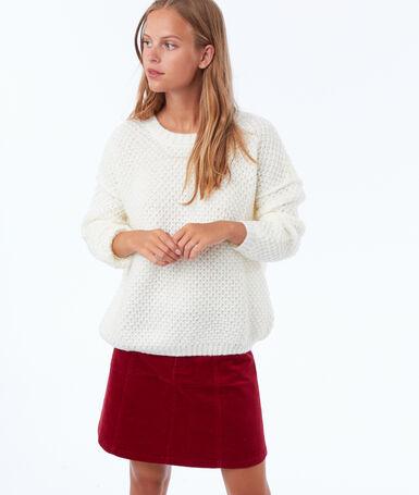 Velvet skirt carmine red.