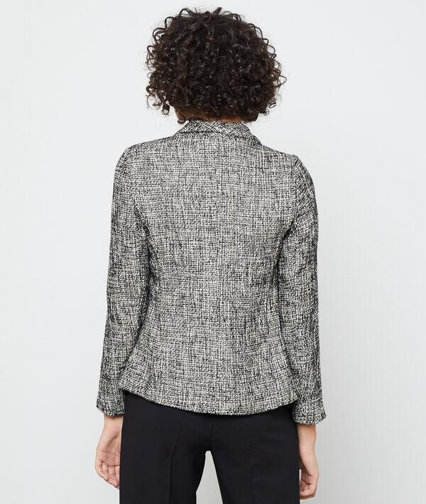 Suit jacket in a tweed look