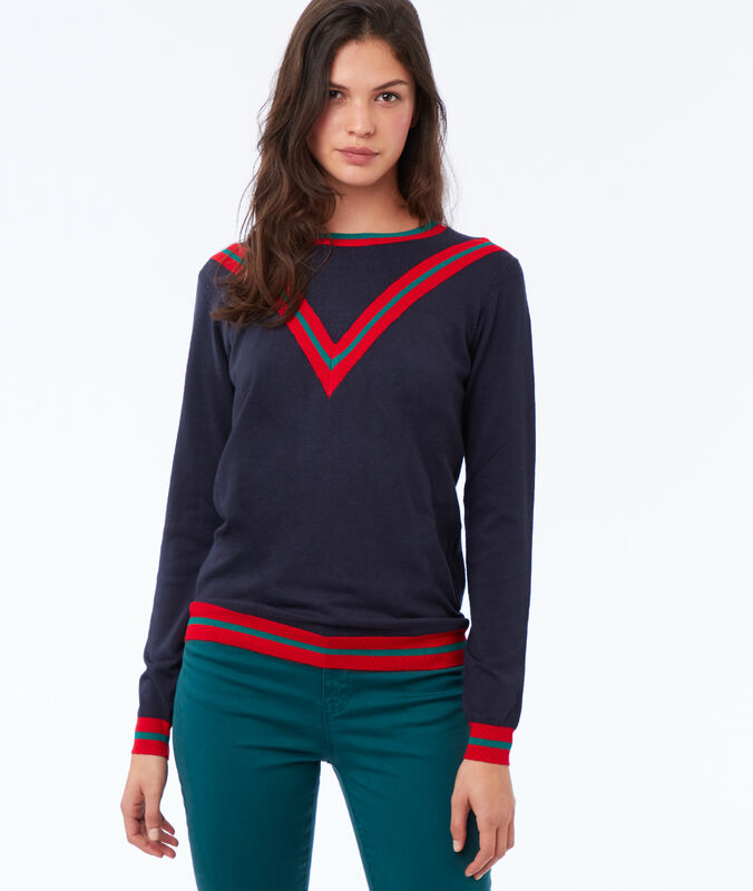 Viscose sweater navy.