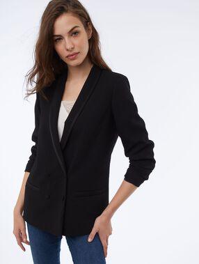 Shawl collar blazer black.