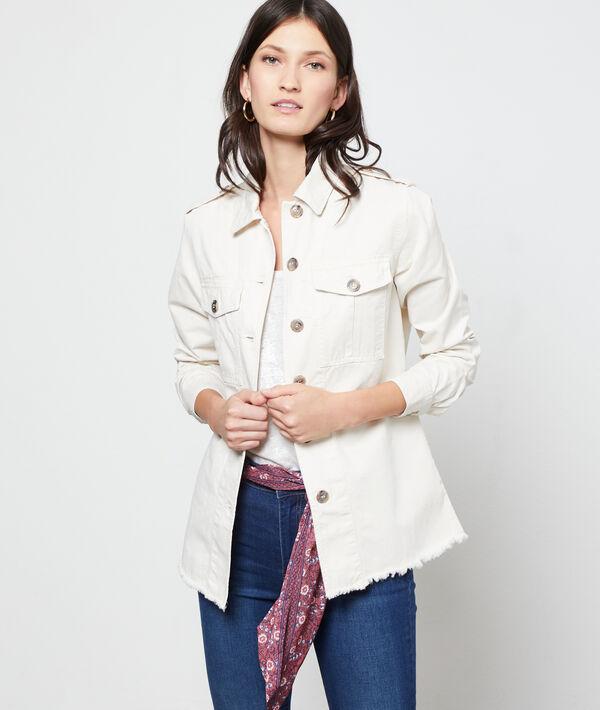 Jacket in an overshirt look