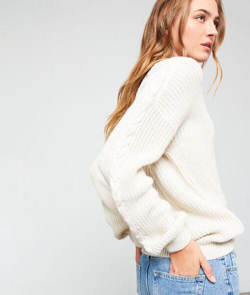 V neck jumper in maxi knit
