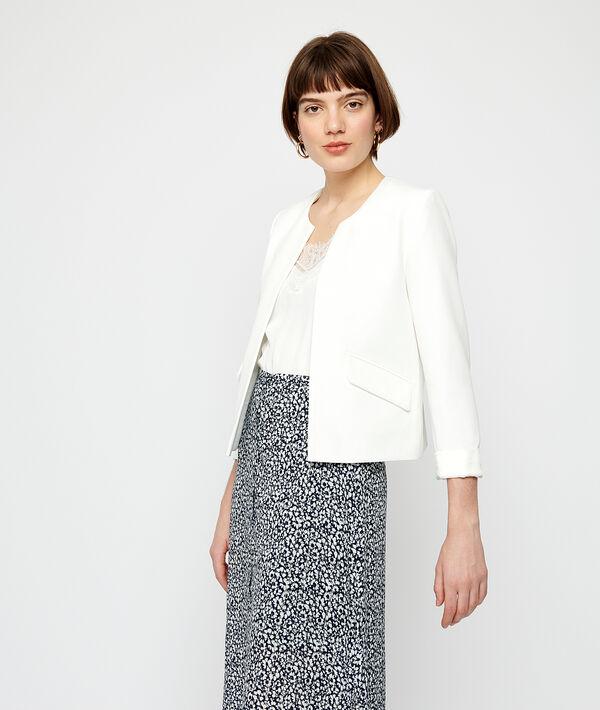 Round neck tailored jacket