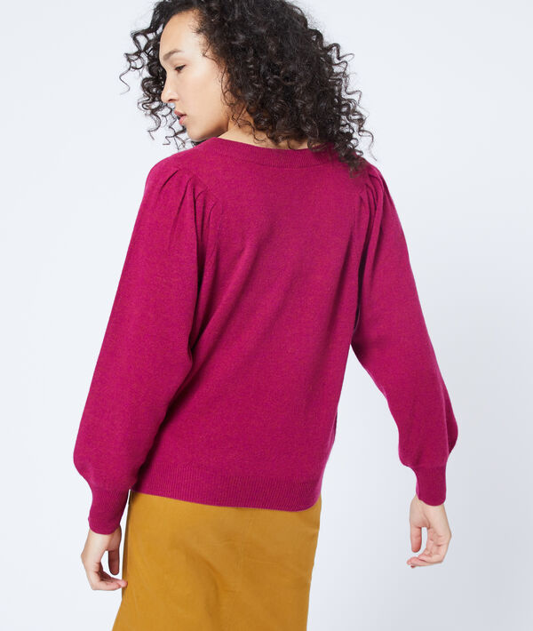 Cashmere jumper with balloon sleeve