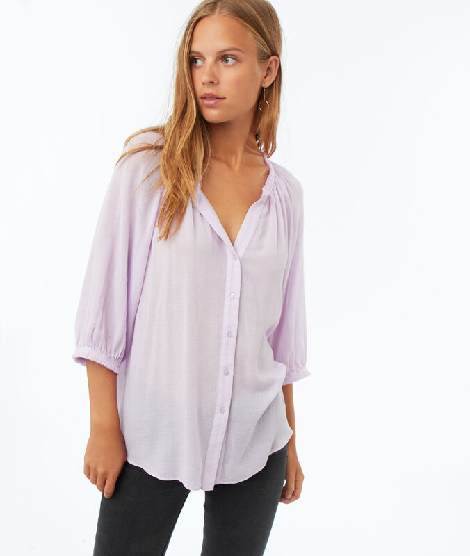 3/4 sleeve blouse lilac.