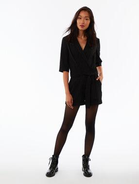 Belted playsuit black.