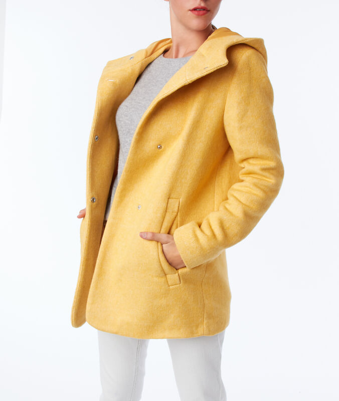 Manteau à capuche mimosa.