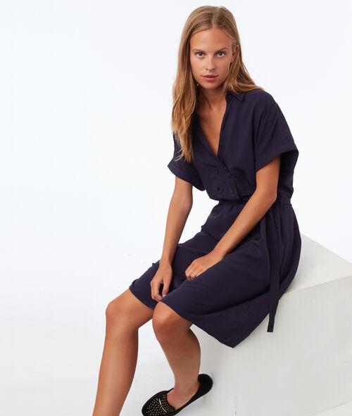Buttoned tie dress