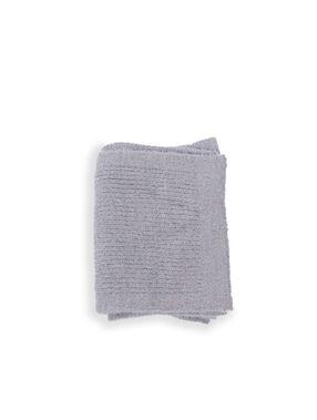 Ribbed scarf dark marl grey.