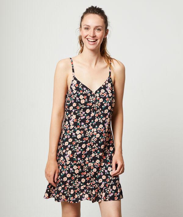 Floral print spaghetti strap dress