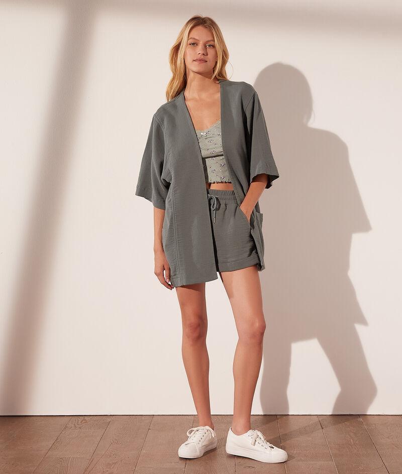 Cotton kimono jacket