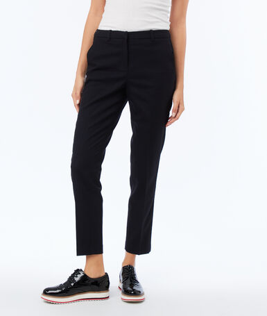 Slimline pants 7/8 navy blue.