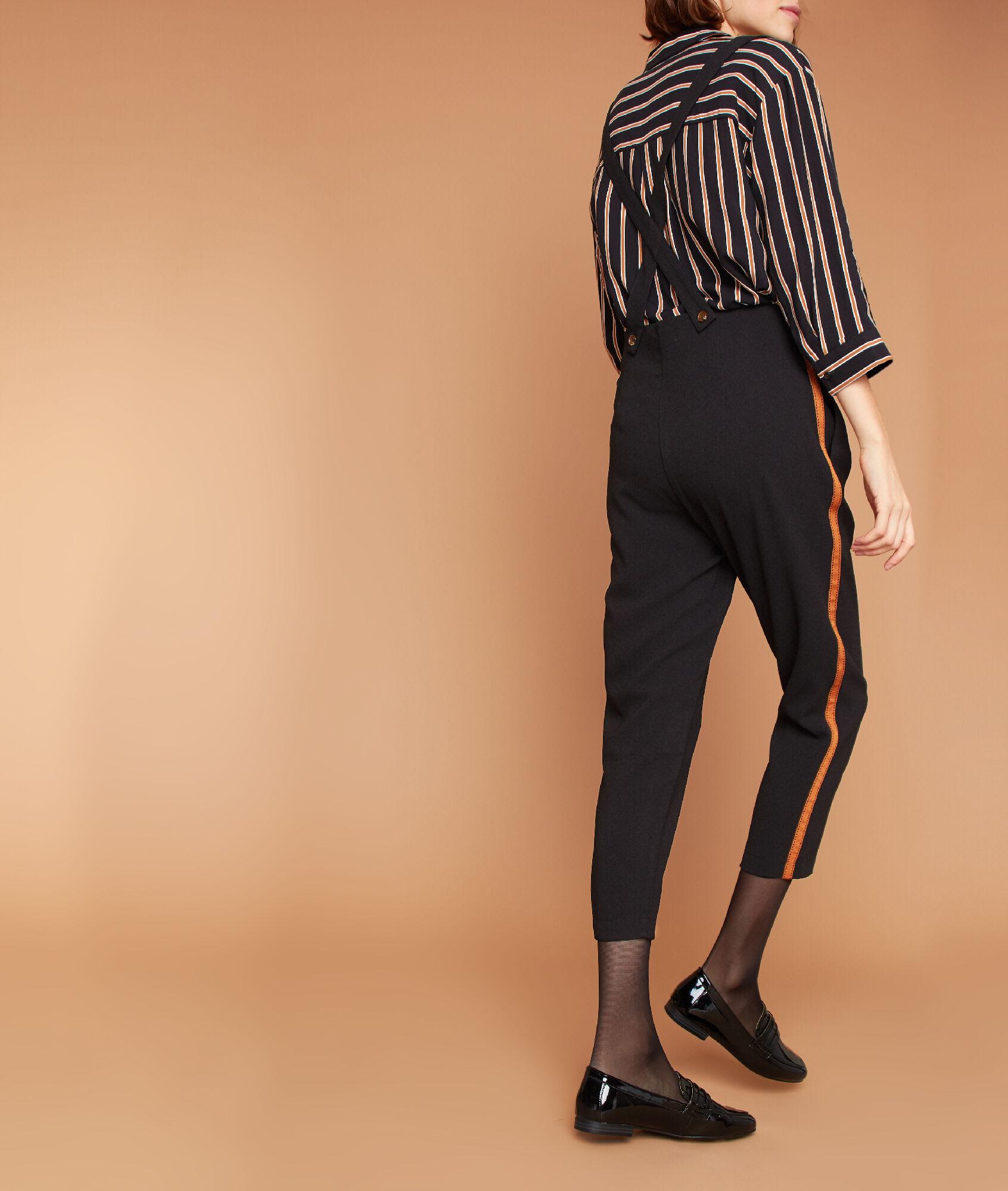 dae5431369b Pantalon carotte à bretelles - SLING - NOIR - Etam