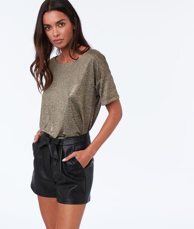 Leather-effect shorts black.