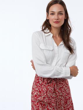 Tencel® shirt with 2 pockets ecru.