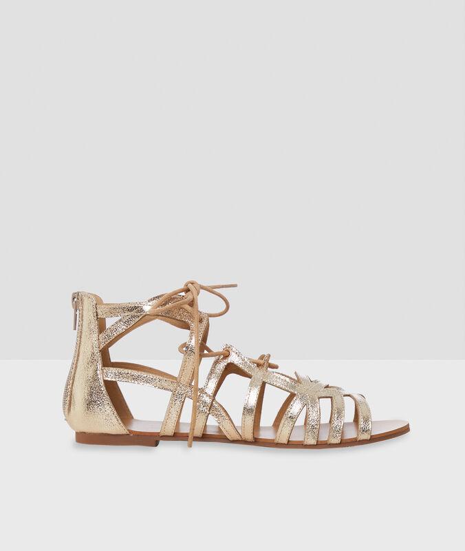 Glitter sandals golden.