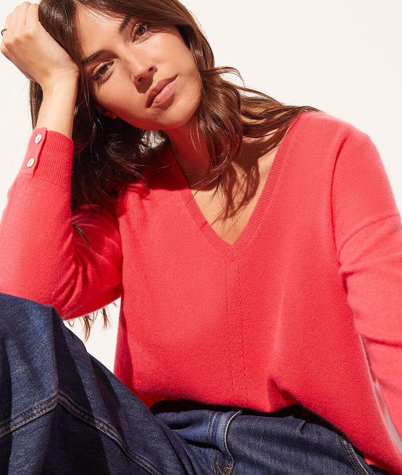 Cashmere V-neck jumper