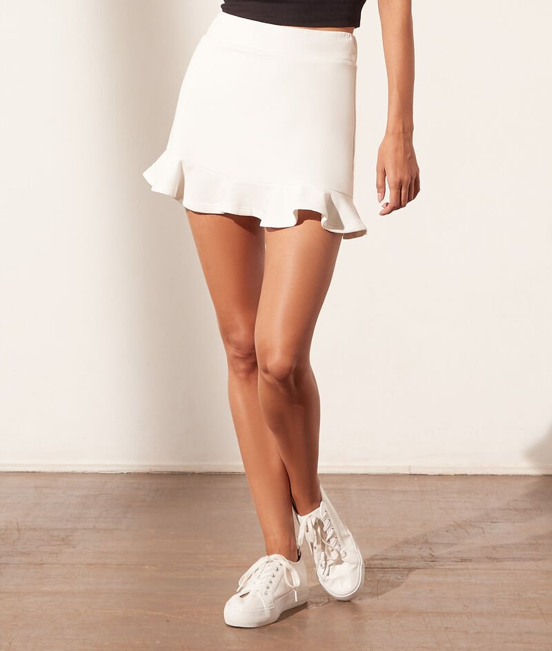 Jogger skirt with ruffles