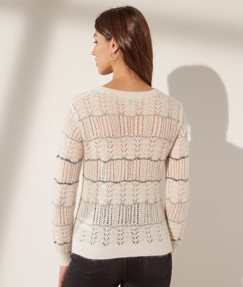 Openwork knit jumper
