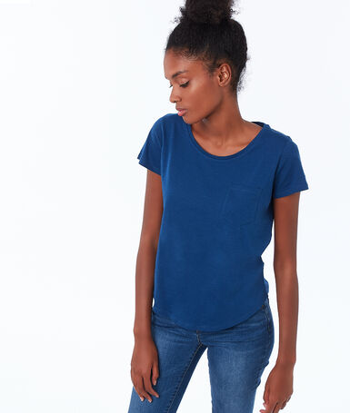 Cotton round-necked t-shirt moonlight.