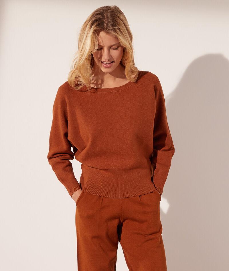 Knit boat-neck jumper