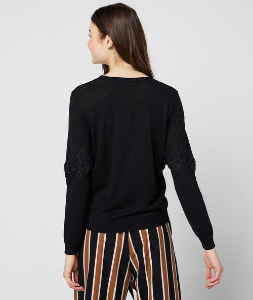 Lace panel jumper