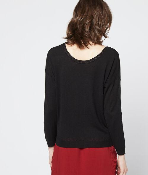 V neck jumper in fine knit
