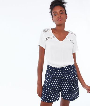 Polka dot shorts navy.