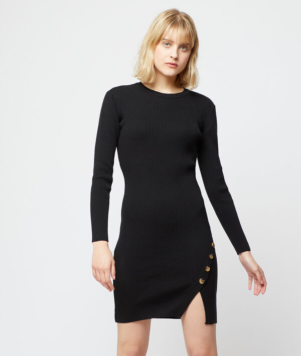 Jumper dress with split