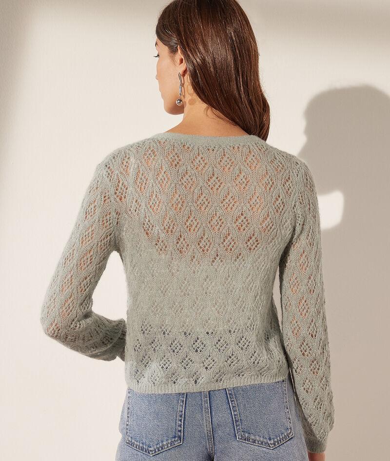 Openwork knit cardigan