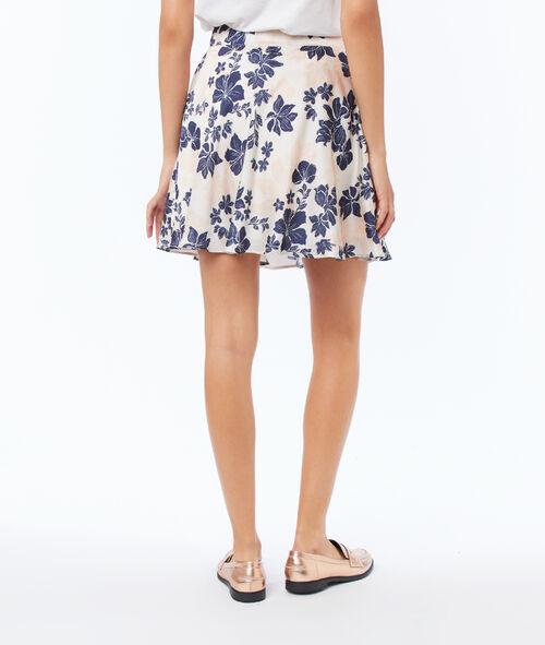 Skater skirt with floral print