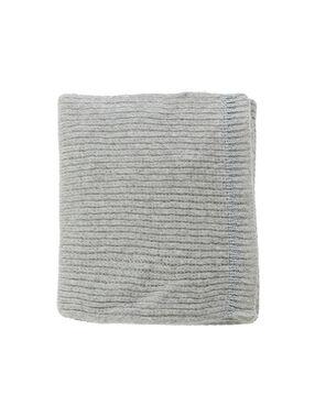 Scarf with metallic thread light grey marl.