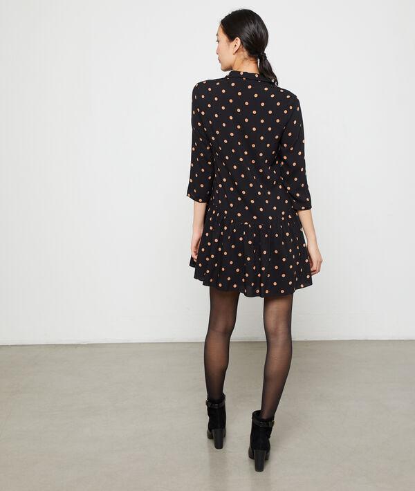 Full skirt dress in dots
