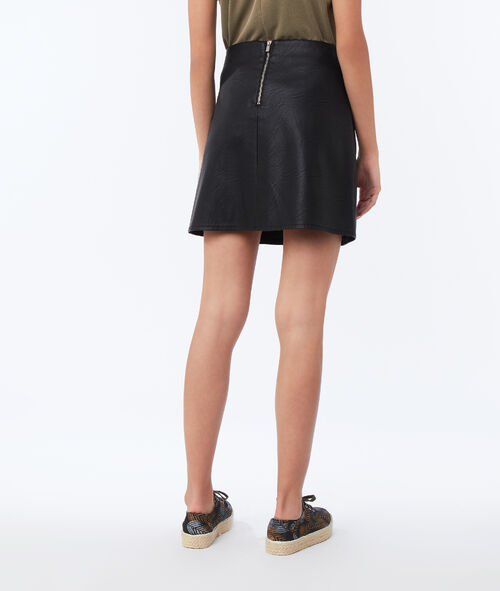 Leather effect skirt