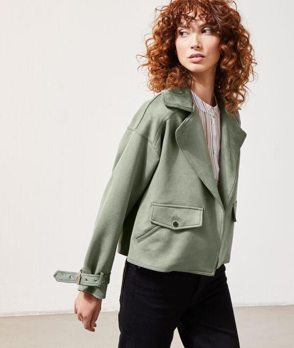 Biker jacket in a suede look