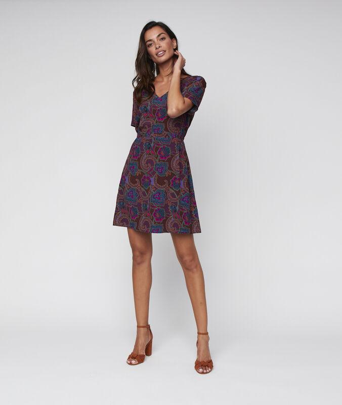 Flared dress purple.