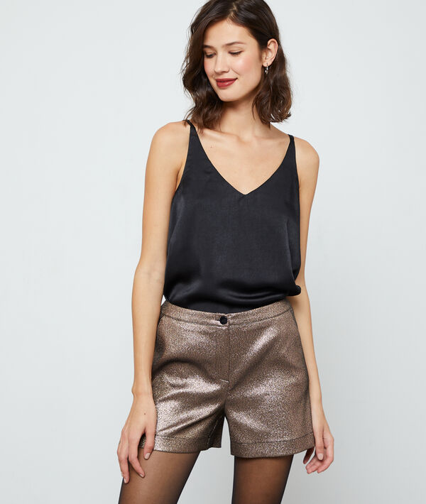 Shorts in gold tone