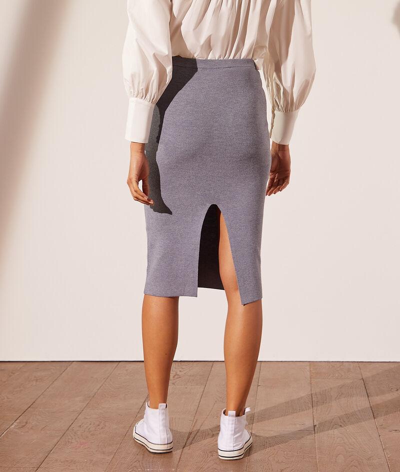 Midi skirt in eco-friendly knitwear