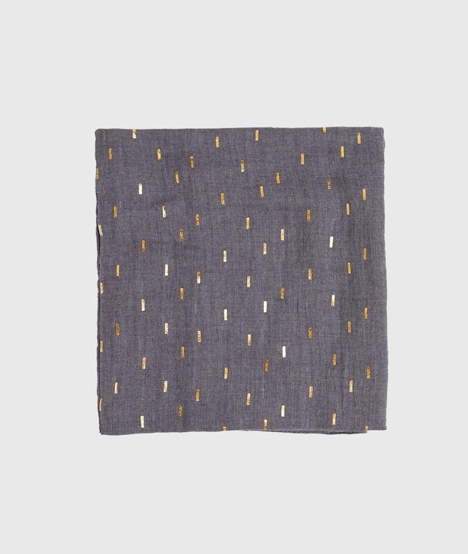 Printed scarf slate.