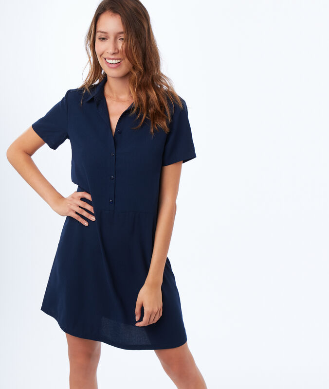 Flared dress navy blue.