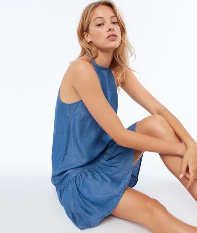 Tencel® dress medium faded blue.