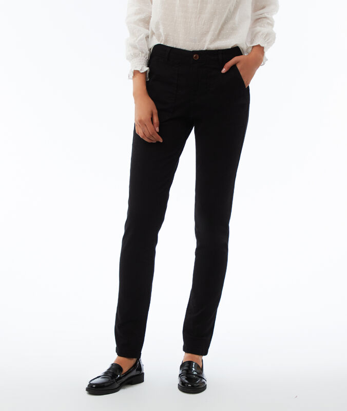 Slim-fit trousers black.