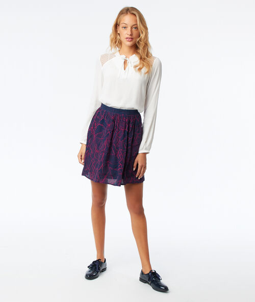 Leaves skater skirt